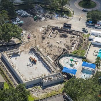 Morningside Recreation Center-Aerial project progress