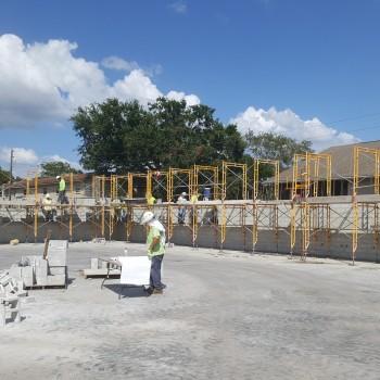Morningside Recreation Center-Gymnasium block work-